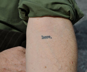 tattoo, here, and arm image