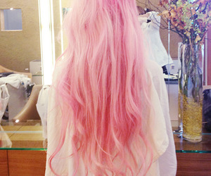 dyed hair and loving pink hair <3 image