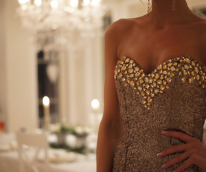 dress, fashion, and sparkly image