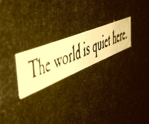 world, quiet, and text image