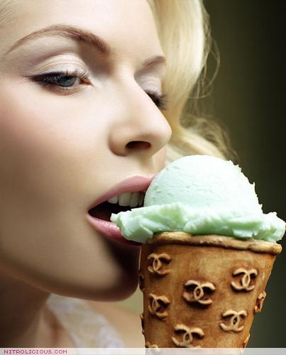 chanel, ice cream, and food image