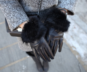 fashion, gloves, and black image