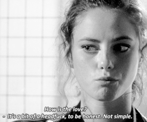 black and white, text, and effy stonem image