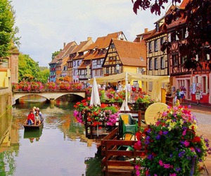 france, flowers, and colmar image