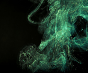 green, smoke, and black image