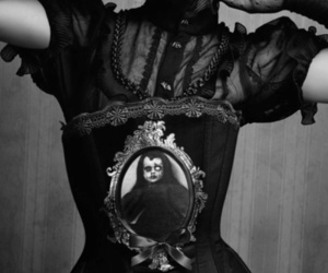 corset, gothic, and goth image