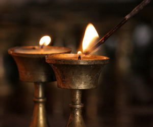 candle, flame, and light image
