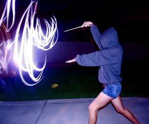 magic, girl, and light image
