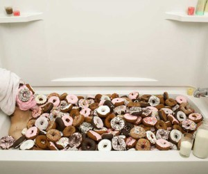 donuts, food, and bath image