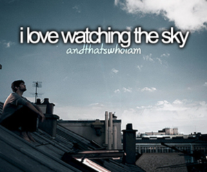 sky, quotes, and love image