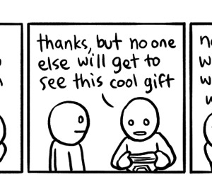 comic, underwear, and gift image