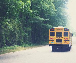 school bus, bus, and school image