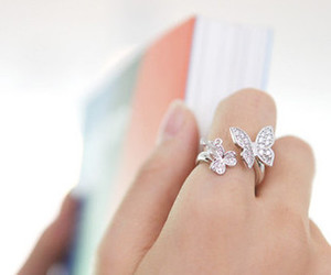 butterfly, cute, and ring image