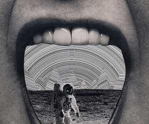 astronaut and mouth image