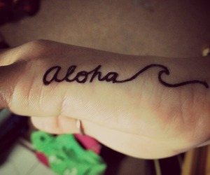 Aloha and tattoo image