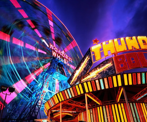 color, fun, and rides image