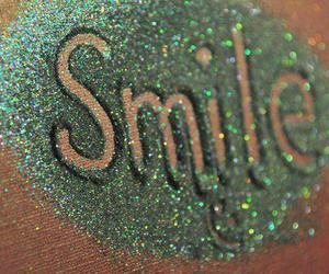 smile, glitter, and green image