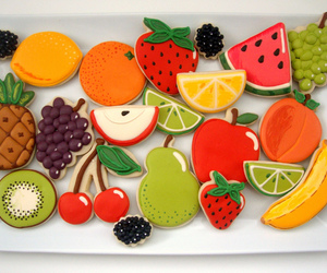 cookie, decorating, and fruit image