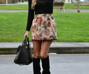 fashion, skirt, and boots image
