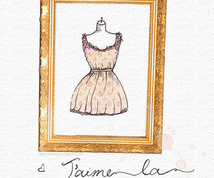 dress, fashion, and french image