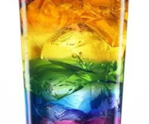 rainbow, drink, and ice image