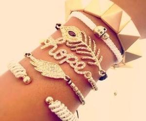 bracelet, hope, and gold image