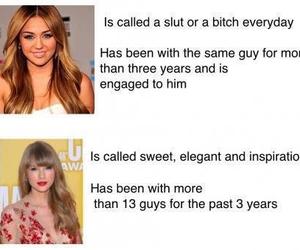 Taylor Swift, miley cyrus, and slut image