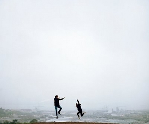 and then they jumped and on the edge of the world image
