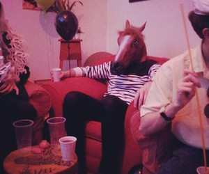 horse, party, and horse head image