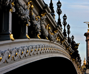 bridge, paris, and gold image