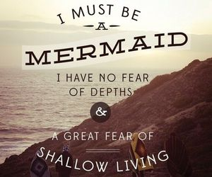 mermaid, quote, and life image