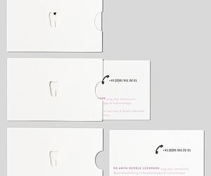 business card and dentist image