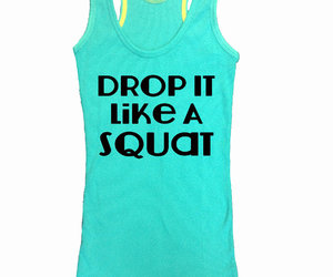 Drop It Like a Squat Train Gym Tank Top by sunsetsigndesigns