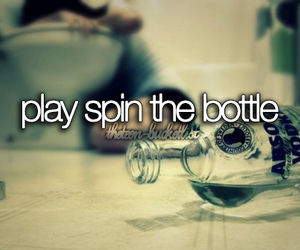 play, spin the bottle, and alcohol image