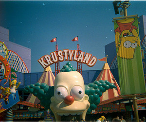 the simpsons and krustyland image
