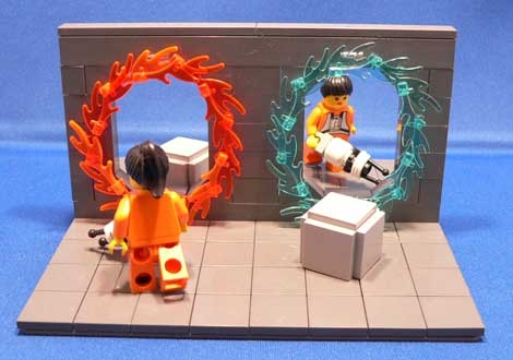 game, lego, and portal image
