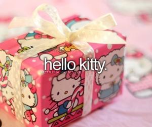 hello kitty, pink, and christmas image