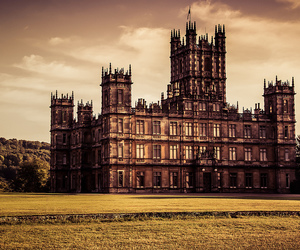 beautiful, castle, and downton abbey image