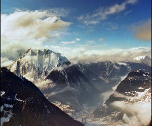 christmas, landscape, and mountains image