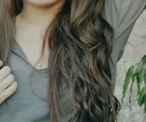beautiful, curls, and highlights image