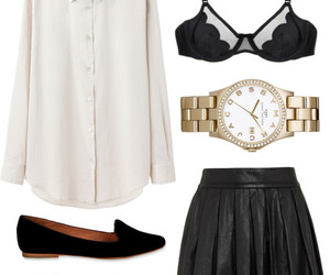 black bra, outfit, and fashion image