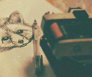 vintage, camera, and drawing image