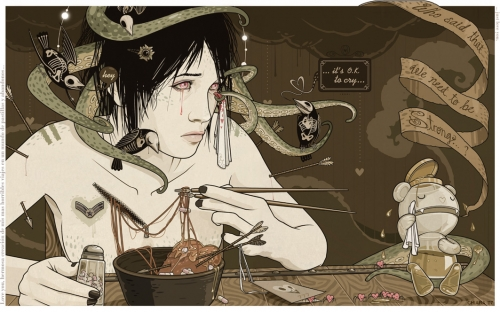 Chiara Bautista, cry, and illustration image
