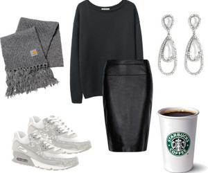 cool, outfit, and coffee image