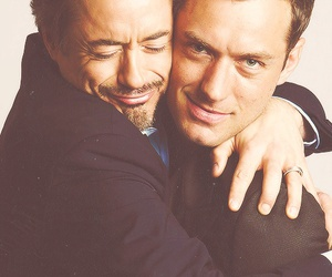 actor, downey, and hug image