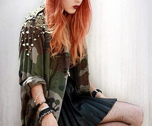 clothes, dress, and ginger image