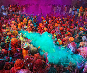 colors, festival, and india image