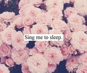 sleep, flowers, and sing image
