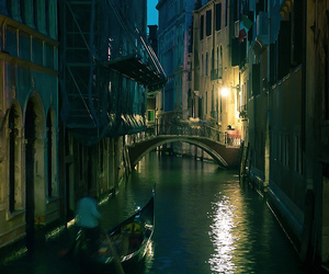 italy, venice, and night image
