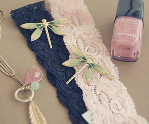 chanel, pink, and dragonfly image